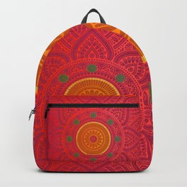 """Fuchsia and Gold Mandala"" Backpack"