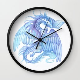 A dragon with a book Wall Clock