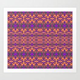 African Rhythmic HDR Geometry Art Print