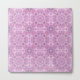 Pink kaleidoscope wallpaper Metal Print