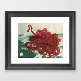 Octopus Beach Framed Art Print