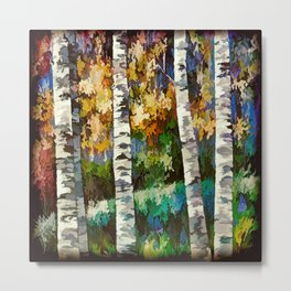 Enchanted Birch Forest Metal Print