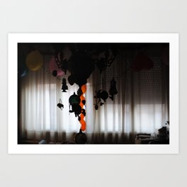 Christmas decoration in the apartment room Art Print