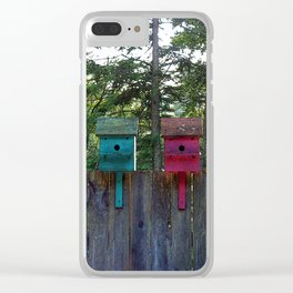 Birdhouse blues Clear iPhone Case