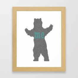 bear me Framed Art Print