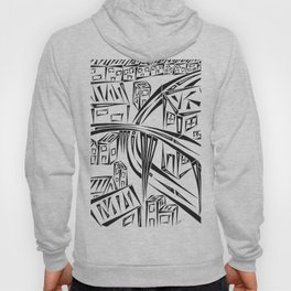 Town Circled By Roads Hoody
