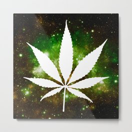 Weed : High Times Galaxy Metal Print