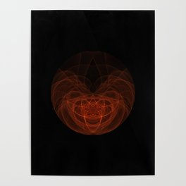 Orange Orb Poster