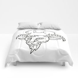 The Goat Chef Cook Baker Mono Line Comforters