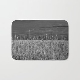 Cattails and reeds in the marsh Bath Mat