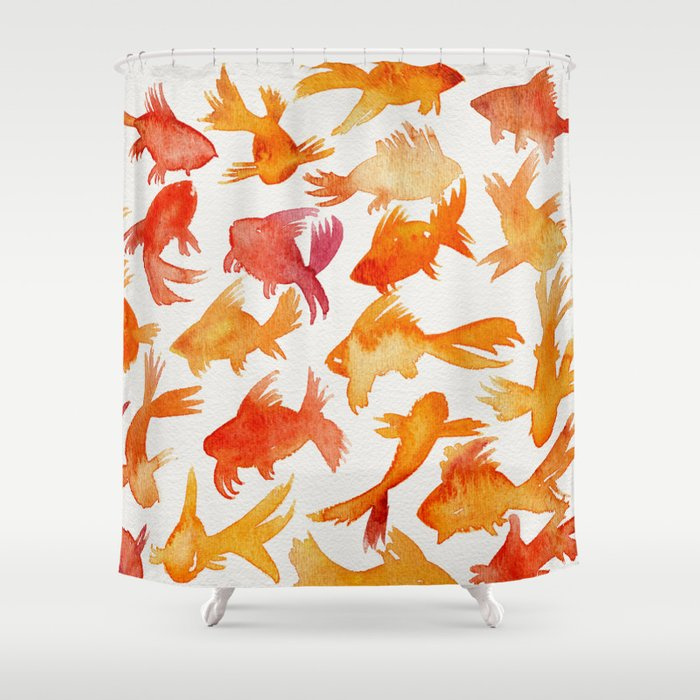 Goldfish Shower Curtain By Catcoq