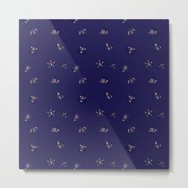 Modern Midnight Polyhedral Dice Pattern Metal Print