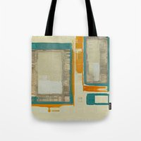 mid century modern Tote Bags featuring Mid Century Modern Abstract by Corbin Henry