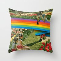 polaroid Throw Pillows featuring Polaroid by Blaz Rojs