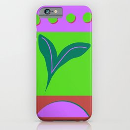 Green sun iPhone Case