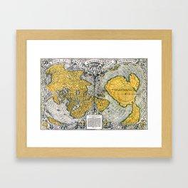 World Map 1531 Framed Art Print