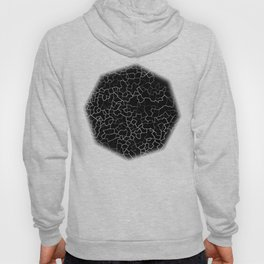 White on Black Crackle Hoody