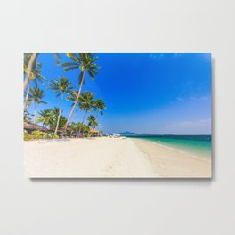 Beautiful white sand beach on Koh Mook island, Trang Province, Thailand Metal Print