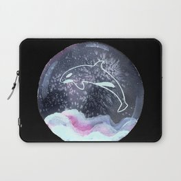 Orca in Snowglobe Painting Laptop Sleeve