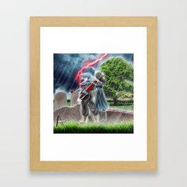 Future Trunks and mai Dragonball super 2018 Framed Art Print