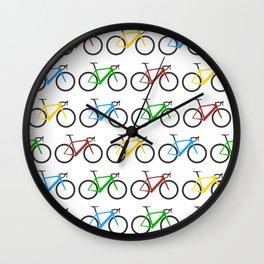 Road Bike Pattern Wall Clock