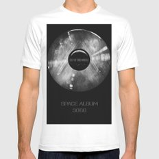 Platinum SPACE ALBUM 3066 Out of this World White Mens Fitted Tee MEDIUM