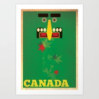 canada Art Prints featuring Canada by LG Design
