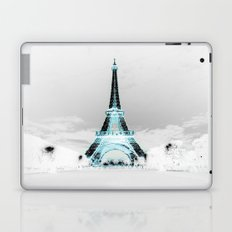 Paris Black & White + Blue Laptop & iPad Skin