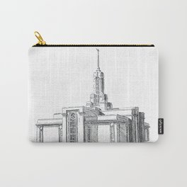 Mount Timpanogos LDS Temple Carry-All Pouch