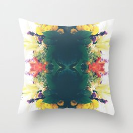 Summer Bouquet Psychedelia 2012 Throw Pillow