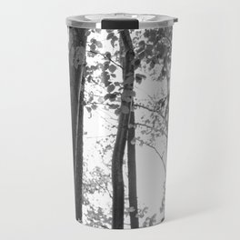 Forest, black and white Travel Mug
