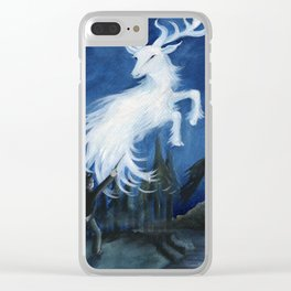 Harry's Patronus Clear iPhone Case