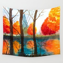 Autumn scenery #5 Wall Tapestry