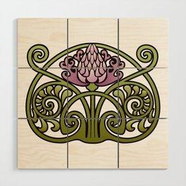 Nouveau Thistle Wood Wall Art