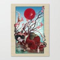 sakura Canvas Prints featuring Sakura by Claudia SGI