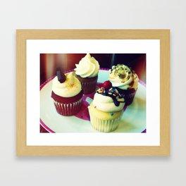 Cupcake Quartet Framed Art Print