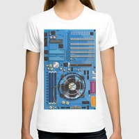 computer T-shirts featuring Computer Motherboard by Nick's Emporium