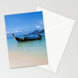Thailand longboat Stationery Cards