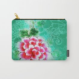 Peranakan Peony Carry-All Pouch