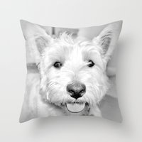 mac Throw Pillows featuring Mac by  Alexia Miles photography