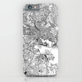 Baltimore White Map iPhone Case