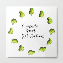 Avocado Sun Salutation Metal Print