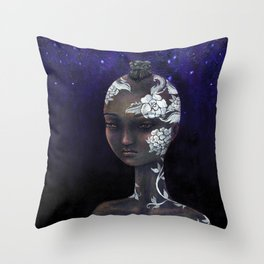 Night Bride Throw Pillow
