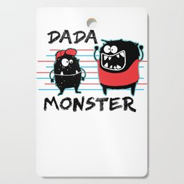 Dada Monster Cute Monster Cartoon for Kids and Dad Light Cutting Board