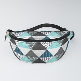 Triangle Quilt in Blue Fanny Pack