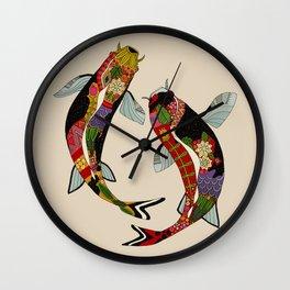 koi chamomile Wall Clock