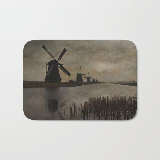 Windmills at Kinderdijk Holland Bath Mat