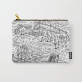 Grazing Longhorns Landscape Carry-All Pouch