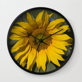 Lively Sunflower Wall Clock