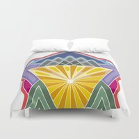 crown Duvet Covers featuring Crown by Losal Jsk